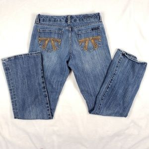 Seven7 Bootcut double 7 pocket soft mid rise jean